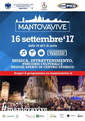 Notte Bianca Mantova Vive 16 settembre 2017