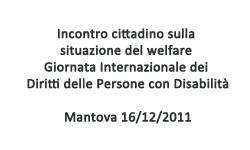 Giornata Internazionale dei Diritti delle Persone con Disabilità 2011 Mantova