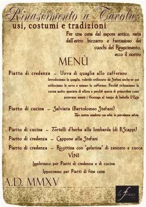 Rinascimento a Tavola Mantova 9 luglio 2015