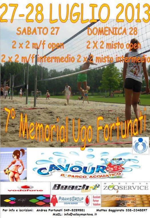 Memorial Ugo Fortunati 2013 beach volley Parco Cavour Valeggio sul Mincio