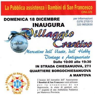 Villaggio Creativo Borgochiesanuova Mantova - Mercatino Hobbistico