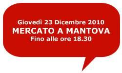 Mercato Mantova Giovedì 23 dicembre 2010