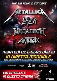 The Big Four in Concert: Metallica, Slayer, Megadeath, Anthrax