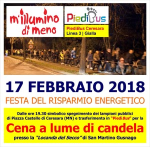 Mi Illumino di Meno 2018 Ceresara (Mantova)