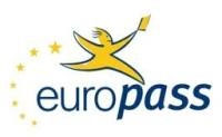 modello Curriculum Vitae Europass