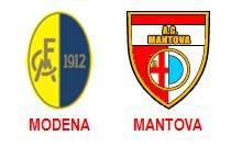Modena-Mantova 1-1. Serie B 2009-10, Giornata 18