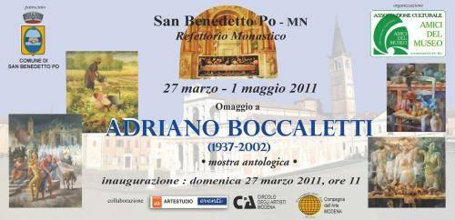 Mostra Adriano Boccaletti, San Benedetto Po (Mantova)