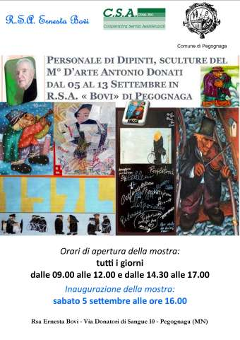 Mostra Antonio Donati Pegognaga (MN) 2015