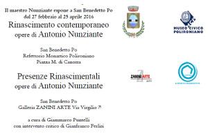 Mostra opere Antonio Nunziante San Benedetto Po 2016