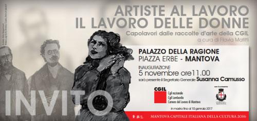 Motra CGIL artiste al lavoro il lavoro delle donne Mantova 2016 2017