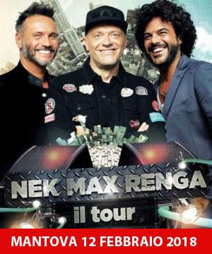 Concerto Nek Max Pezzali Francesco Renga Mantova 2018
