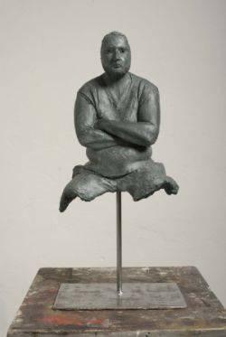 Nicola Biondani statua Davide, 2009, terracotta patinata