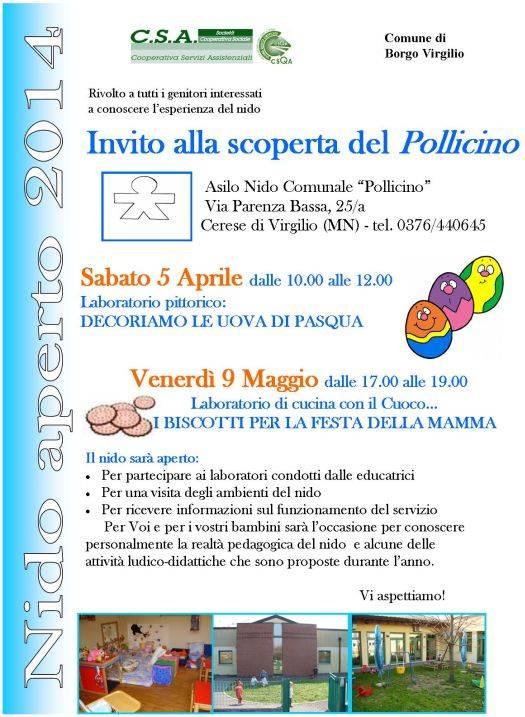 Nido Pollicino a Cerese di Borgo Virgilio (MN)