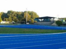 Nuova pista atletica blu Campo Scuola Mantova 2016