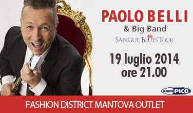 Concerto Paolo Belli Mantova Fashion District 2014