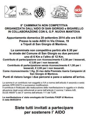Passeggiata AIDO San Giorgio Mantova
