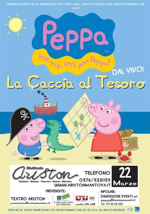 locandina Peppa Pig e La Caccia al Tesoro Mantova