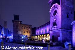 Mantova Piazza Erbe luci 2008
