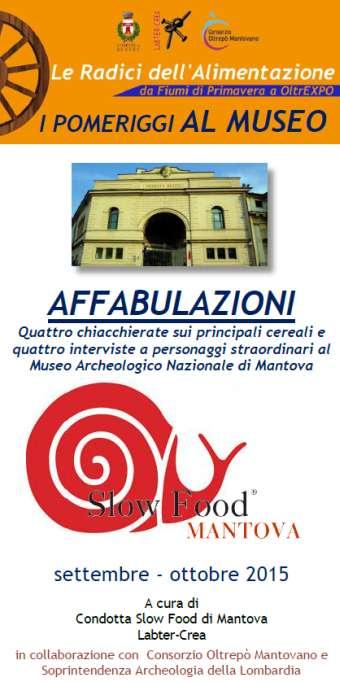 I Pomeriggi al Museo Archeologico di Mantova 2015