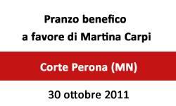 Pranzo Martina Carpi a Corte Perona Mantova