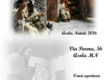 Presepio storico in movimento Asola famiglia Soncini Mutti 2016