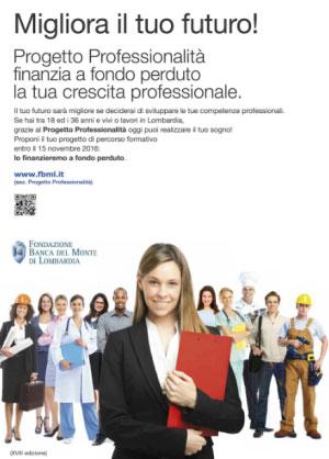 Bando Progetto Professionalità 2016 2017 Mantova e Lombardia