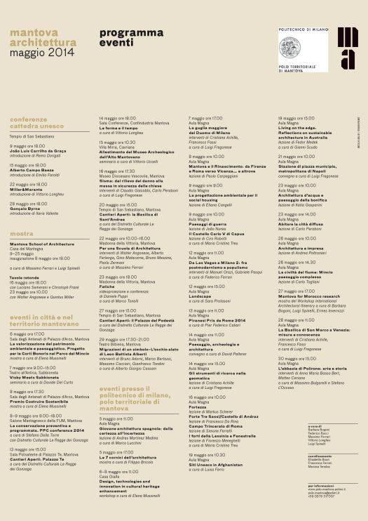 Programma Mantova Architettura maggio 2014