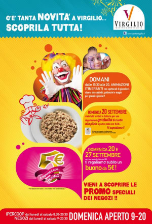 Centro commerciale Virgilio di Borgo Virgilio (MN) eventi settembre 2015