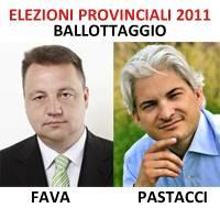 Ballottaggio Giovanni Fava Alessandro Pastacci (Elezioni Provincia Mantova 2011)