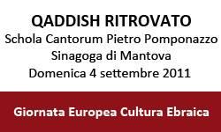 Qaddish Ritrovato, Concerto Sinagoga Mantova - Giornata Europea della Cultura Ebraica 2011