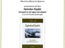 Quindas disdot, libro Prima Guerra Mondiale 1915 - 1918