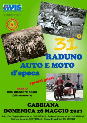 Raduno Auto e Moto d'Epoca Gabbiana (MN) 2017