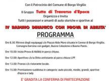 Raduno dimanico con prova di abilità auto storiche e sportive Borgo Virgilio 2016