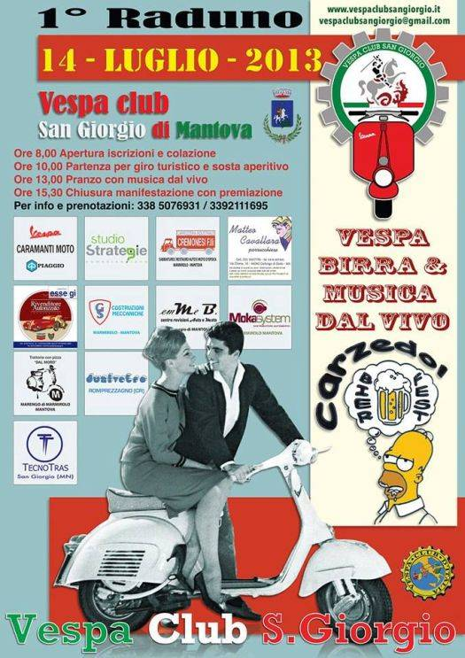 Raduno Vespa Club San Giorgio Mantova 2013