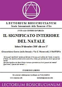 RosaCroce Mantova: Il Significato Interiore del Natale