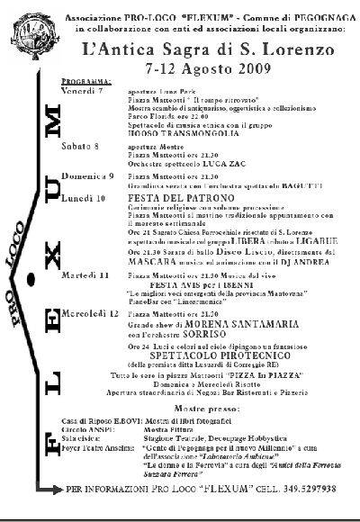 Sagra di San Lorenzo 2009 a Pegognaga