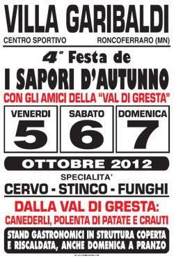 Festa I Sapori d'Autunno 2012 a Villa Garibaldi di Roncoferraro (Mantova)