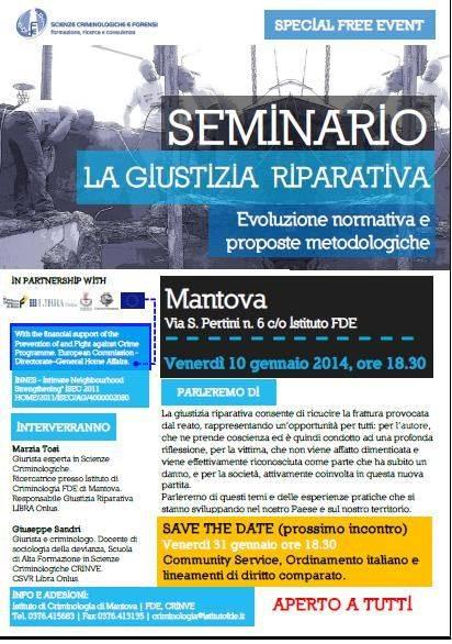 Giustizia Riparativa seminario Mantova
