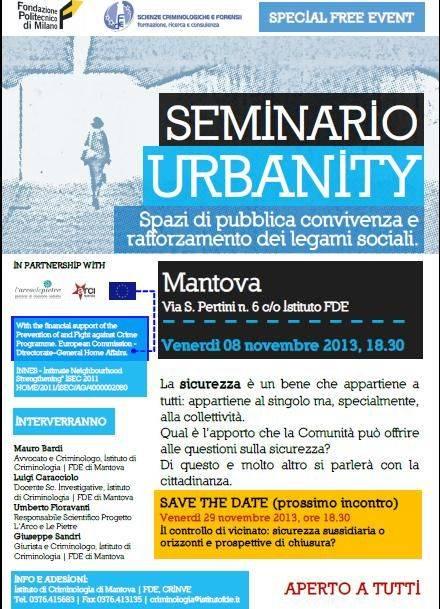 Seminario Urbanity Mantova FDE