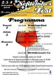 September Fest 2011 Festival della Birra Artigianale Boschetto Eremo Curtatone (MN)