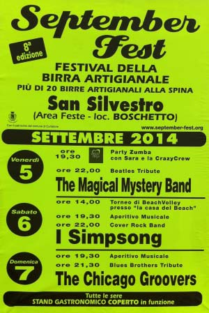 Birra artigianale September Fest 2014 Curtatone (MN)