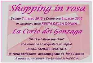 Shopping in Rosa Mantova La Corte dei Gonzaga