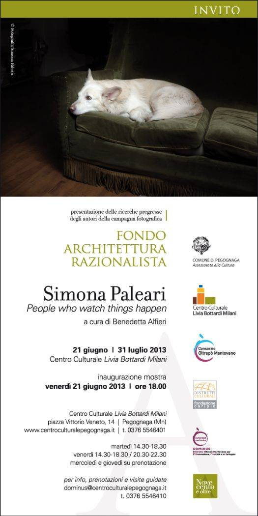mostra Simona Paleari People who watch thigs Happen