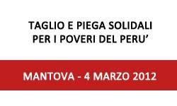 Mantova Taglio e piega solidali per i poveri del Perù