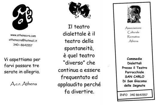 Teatro dialettale San Giacomo delle Segnate (Mantova)