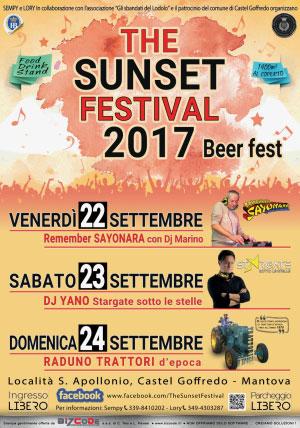 The Sunset Festival 2017 Castel Goffredo (Mantova)
