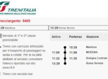 treno alta velocità Frecciargento 9472 Mantova Roma