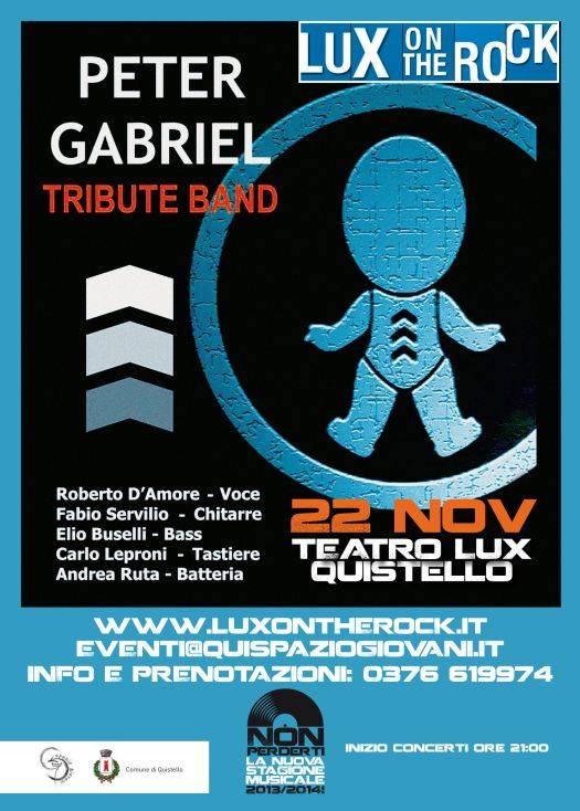PGTB tributo Peter Gabriel Quistello (Mantova)