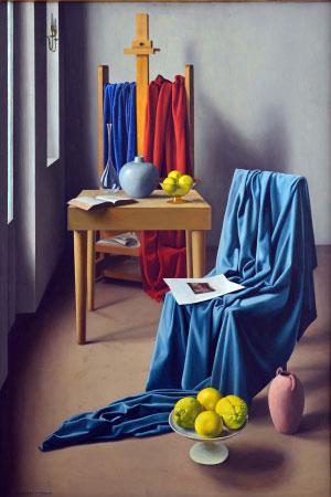 Ugo Celada Lo Studio, olio su tela 1947