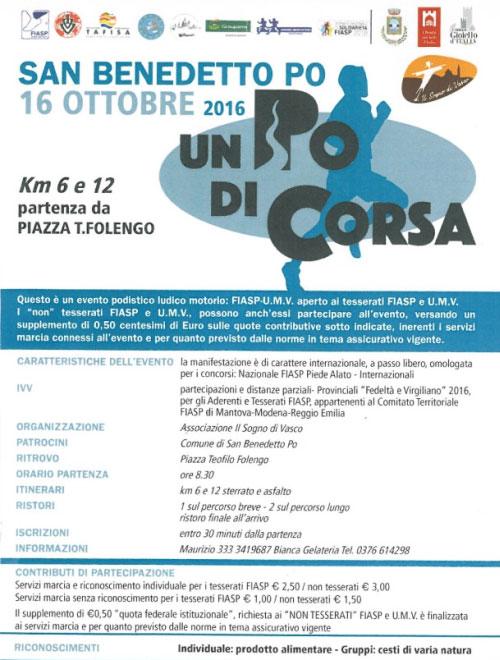 Un Po di Corsa San Benedetto Po 16 ottobre 2016